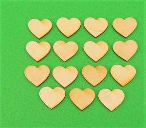♥ Herzen ♥ 35 Stck Volksfest Herz 2,5 cm aus Vollholz, zum bemalen, Hochzeitsdekoration, Tischdeko  - Handarbeit kaufen