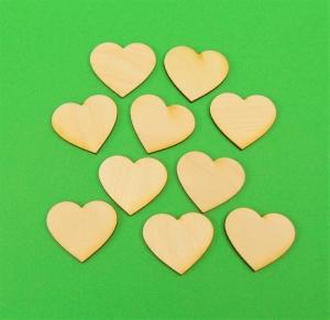 ♥ Herzen ♥ 15 Stck Volksfest Herz 4 cm aus Vollholz, zum bemalen, Hochzeitsdekoration, Tischdeko   - Handarbeit kaufen