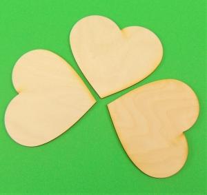 ♥ Herzen ♥ 10 Stck Volksfest Herz 8 cm aus Vollholz, zum bemalen, Hochzeitsdekoration, Tischdeko  - Handarbeit kaufen