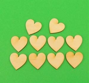 ♥ Herzen ♥ 8 Stck symmetrisches Herz 6 cm aus Vollholz, zum bemalen, Hochzeitsdekoration, Tischdeko  - Handarbeit kaufen