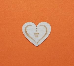 ♥ Herz ♥ 1 Stck 10 cm graviert mit ♥ I LOVE YOU ♥ aus Vollholz, zum bemalen, Freundschaftsgeschenk  Tischdeko  - Handarbeit kaufen