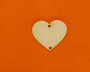 ♥ Herzen ♥ 7 Stck EHS Herz 6 cm aus Vollholz, zum bemalen, Hochzeitsdekoration, Tischdeko  - Handarbeit kaufen