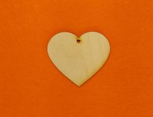 ♥ Herzen ♥ 10 Stck EHL Herz 8 cm aus Vollholz, zum bemalen, Hochzeitsdekoration, Tischdeko  - Handarbeit kaufen