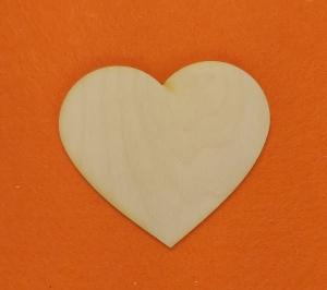 ♥ Herzen ♥ 5 Stck Volksfest Herz 11 cm aus Vollholz, zum bemalen, Hochzeitsdekoration, Tischdeko  - Handarbeit kaufen