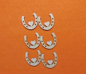 ♥ Doppel Hufeisen mit Herz ♥ 3 Stck 10 cm aus Vollholz, zum bemalen, Hochzeitsdekoration, Blumendeko   - Handarbeit kaufen