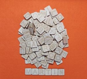 ABC bis Z Holzbuchstaben zum lernen 125 Teile aus Naturholz von Wörtern für Vorschulkinder  - Handarbeit kaufen