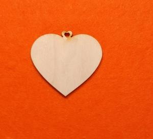 ♥ Herzen ♥ 7 Stck EHH Herz 6 cm aus Vollholz, zum bemalen, Hochzeitsdekoration, Tischdeko   - Handarbeit kaufen