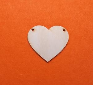 ♥ Herzen ♥ 25 Stck EHW Herz 8 cm aus Vollholz, zum bemalen, Hochzeitsdekoration, Tischdeko    - Handarbeit kaufen