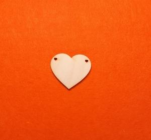 ♥ Herzen ♥ 25 Stck EHW Herz 6 cm aus Vollholz, zum bemalen, Hochzeitsdekoration, Tischdeko   - Handarbeit kaufen