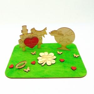 Geldgeschenk zur Goldenen Hochzeit ♥ Hochzeitsauto Weltreise mit Kreuzfahrtschiff ♥ Hochzeitsgeschenk, Personalisiert - Handarbeit kaufen