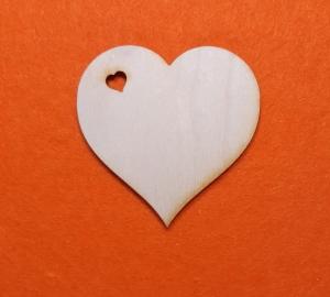 5 Stck ♥ Herzen ♥ Geschwungenes Herz mit Herzloch  11 cm aus Vollholz, als Tischkarte, Hochzeitsdekoration, Tischdeko   - Handarbeit kaufen