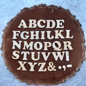 Großbuchstabe, Zahlen und Zeichen aus Naturholz ★3 cm ★ Schriftart Cooper Black  zum basteln und kreativen gestalten  - Handarbeit kaufen