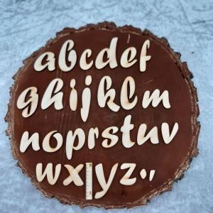 Kleinbuchstabe, Zahl, Zeichen aus Naturholz ★5 cm ★ Schriftart Forte  zum basteln und kreativen gestalten  - Handarbeit kaufen