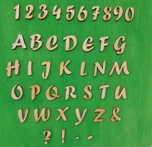 Buchstaben, Zeichen und Zahlen aus Naturholz ★21mm ★ Schriftart Forte 15 Stck. zum basteln und kreativen gestalten     - Handarbeit kaufen