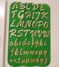 Buchstaben aus Naturholz ★5 cm ★ Schreibschrift ★ 12 Stck. zum basteln und kreativen gestalten - Handarbeit kaufen