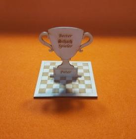 Pokal Wettbewerb ★ Schachspieler ★ Personalisiert Wettkampf Meisterschaft Turnier Training - Handarbeit kaufen