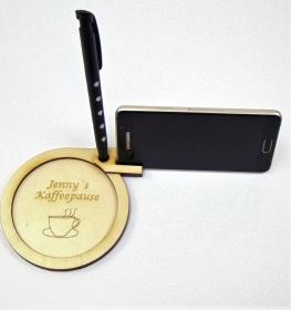 Tisch Untersetzer mit Handy Halterung für Schreibtisch Couchtisch Personalisiert - Handarbeit kaufen