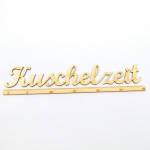 Schriftzug ★ Kuschelzeit 30 cm ★ Schriftzug für Geschenke, Wohnaccessoires, Wanddekoration - Handarbeit kaufen