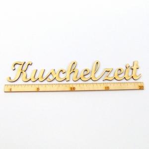 Schriftzug ★ Kuschelzeit 20 cm★ Schriftzug für Geschenke, Wohnaccessoires, Wanddekoration - Handarbeit kaufen