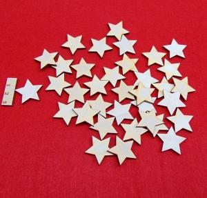Holz Sterne 35 Stck naturbelassen in 3 cm Vintage Look für Weihnachtsdeko  - Handarbeit kaufen