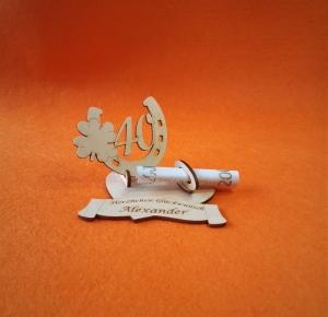Geldgeschenk aus Holz Geburtstag ♥ Hufeisen mit Zahl 40 ♥  Wunschgravur, Herz Personalisiert - Handarbeit kaufen