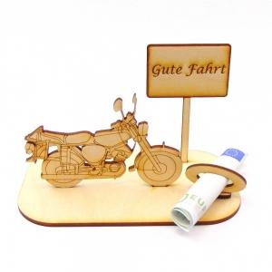 Geldsgeschenk ♥ Moped mit Schild