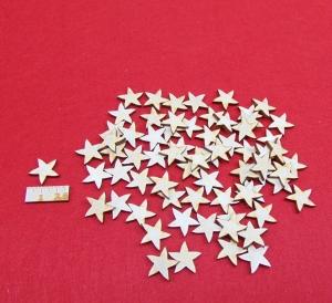 70 Stck Birkenholz Weihnachtssterne naturbelassen in 2 cm Vintage Look für Weihnachtsdeko  auch zum bemalen - Handarbeit kaufen