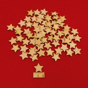 ★ Weihnachtssterne aus Holz ★ 70 Stück naturbelassen, 2 cm, Tischdeko, Weihnachtsdeko, Fensterdeko - Handarbeit kaufen