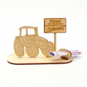 ♥ Geldgeschenk ♥ Traktor mit Schild