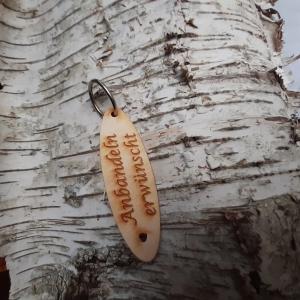 Schlüsselanhänger  ♥Anbandeln erwünscht ♥ aus Holz zum Verschenken - Handarbeit kaufen