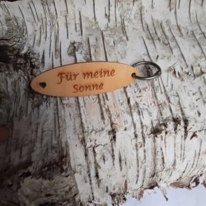 Schlüsselanhänger  ♥Für meine Sonne ♥ aus Holz  zum Verschenken - Handarbeit kaufen