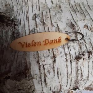 Schlüsselanhänger  ♥ vielen Dank ♥ aus Holz  zum Verschenken oder Leihen  - Handarbeit kaufen