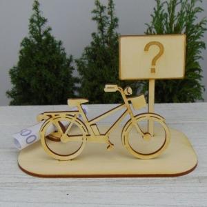 Geld- oder Gutscheinset ★ E Bike aus Holz mit Aufschrift