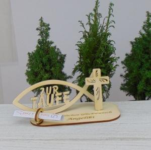 Zur Taufe ♥ Personalisiertes Geld- und Gutscheingeschenk aus Holz ♥ Geschenk für Paten - Handarbeit kaufen