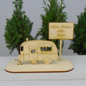 Geld - Gutscheingeschenk ★Wohnwagen Ohne Mäuse alles Käse ★ Geschenkidee für jeden Anlass Rente Ruhestand Geburtstag - Handarbeit kaufen