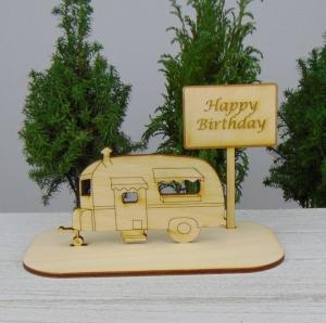 Geld - Gutscheingeschenk ★Wohnwagen Happy Birthday★ Geschenk Geburtstag Jubiläum auch für Männer - Handarbeit kaufen