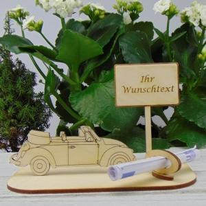 Geld - Gutschein Geschenk ★ Caprio Ihr Wunschtext Wunschspruch Personalisiert ★ Hochzeit, Geburtstag, Verlobung, Urlaubsreise,Weihnachten - Handarbeit kaufen