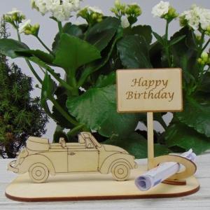 Geld - Gutschein Geschenk ★Caprio Happy Birthday ★ Geburtstagsgeschenk mit Spruch auch Personalisiert möglich - Handarbeit kaufen