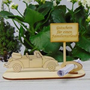 Geld - Gutscheingeschenk ★Caprio Gutschein für einen Familienurlaub ★ für Geburtstag, Urlaubsreise, Führerschein, Weihnachten - Handarbeit kaufen