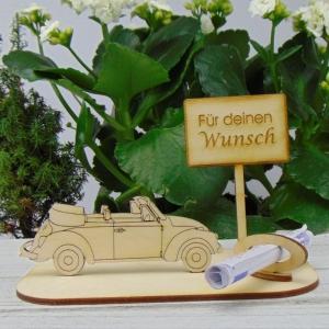 Geld- oder Gutschein Geschenkset ★ Cabrio Für deinen Wunsch ★ zum Geburtstag Führerschein Urlaubsreise Weihnachten auch Personalisiert - Handarbeit kaufen