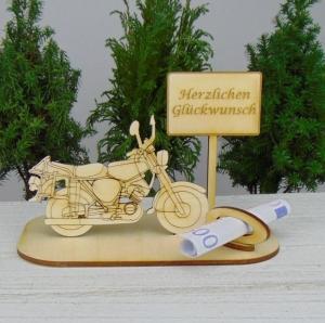 Geld - Gutschein Geschenk ★Moped Herzlichen Glückwunsch ★ für Männer zur Rente, zum Geburtstag, zum Führerschein - Handarbeit kaufen
