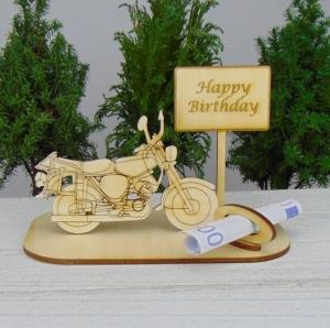 Geldgeschenk Geburtstag ★Moped Happy Birthday ★ zum 16. Geburtstag für Männer auch Personalisiert möglich - Handarbeit kaufen