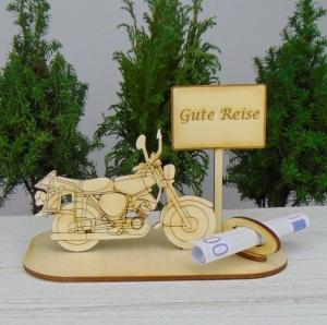 Geld - Gutschein Geschenk ★Moped Gute Reise ★ für Männer Urlaubsreise , Führerschein, Geburtstag oder Weihnachten Personalisiert - Handarbeit kaufen