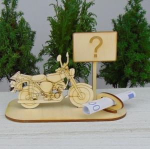 Geld - Gutschein Geschenk ★Moped Fragezeichen oder Wunschtext ★ als Geburtstag, oder Herrentag, oder Führerschein, oder Weihnachtsgeschenk  - Handarbeit kaufen