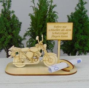 Geld - Gutschein Geschenk ★Moped Fahre nie schneller als dein Schutzengel fliegen kann ★ für Geburtstag, Vatertag, Weihnachten auch Personalisiert - Handarbeit kaufen