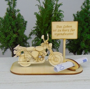 Geld - Gutscheingeschenk ★ Moped Das Leben ist zu kurz für irgendwann ★ Geschenk Herrentag, Geburtstag oder Führerschein auch Personalisiert - Handarbeit kaufen