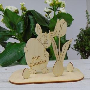Osterdekoration- oder Geschenk ★  Hase/ Eier/ Tulpe aus Holz ★ mit Wunschgravur  ★ Personalisierung - Handarbeit kaufen