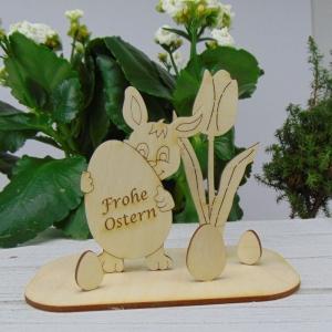 Osterdekoration- oder Geschenk ★  Hase/ Eier/ Tulpe aus Holz ★ mit Aufschrift:  - Handarbeit kaufen