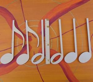 Musikalische Dekoration ★ 6 er Set Noten 12 cm ★ zum Verschenken für ein Jubiläum oder selbst dekorieren  - Handarbeit kaufen
