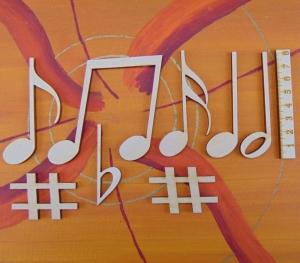 Musikalische Dekoration ★ 8 er Set Noten  8 cm ★ zum Verschenken für ein Jubiläum oder selbst dekorieren  - Handarbeit kaufen